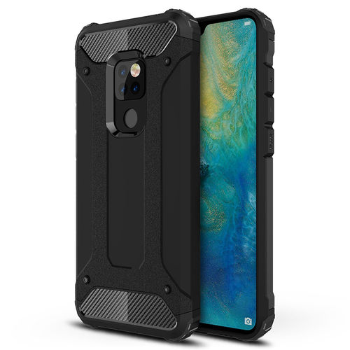 Military Defender Tough Shockproof Case for Huawei Mate 20 - Black